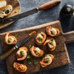 Two Pesto Prawn Crostini